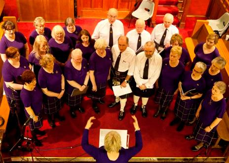 Govan Gaelic Choir performing at Lochwinnoch Arts Festival 2016